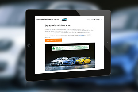 Private Lease Online <br />voor Volkswagen Pon Financial Services